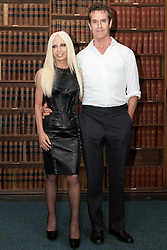 Donatella Versace and Rupert Everett arrive to give an address to the Oxford Union, Wednesday, 30th May 2012.  Photo by: Mark Chappell / i-Images