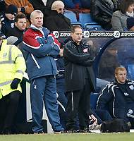 Photo: Steve Bond/Sportsbeat Images.<br />West Bromwich Albion v Charlton Athletic. Coca Cola Championship. 15/12/2007. Charlton manager Alan Pardew looks on as West Brom win