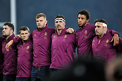 Tom Wood of England looks on prior to the anthems - Photo mandatory by-line: Patrick Khachfe/JMP - Mobile: 07966 386802 22/11/2014 - SPORT - RUGBY UNION - London - Twickenham Stadium - England v Samoa - QBE Internationals