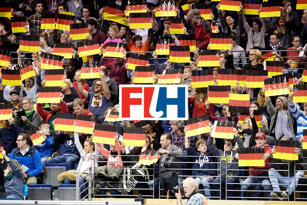 BERLIN - Indoor Hockey World Cup<br /> Quarterfinal 3: Germany - Poland<br /> foto: German fans.<br /> WORLDSPORTPICS COPYRIGHT FRANK UIJLENBROEK