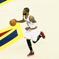 10 June 2016: Cleveland Cavaliers guard Kyrie Irving (2) brings the ball up court during the Golden State Warriors 108-97 victory over the Cleveland Cavaliers, during Game Four of the 2016 NBA Finals at the Quicken Loans Arena, Cleveland, Ohio, USA.
