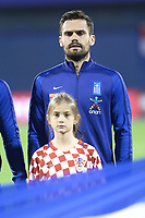 ZAGREB, CROATIA - NOVEMBER 09:  Portrait of Alexandros Tziolis of Greece controls the ball during the FIFA 2018 World Cup Qualifier play-off first leg match between Croatia and Greece at Maksimir Stadium on November 9, 2017 in Zagreb, Croatia. (Sanjin Strukic/PIXSELL)