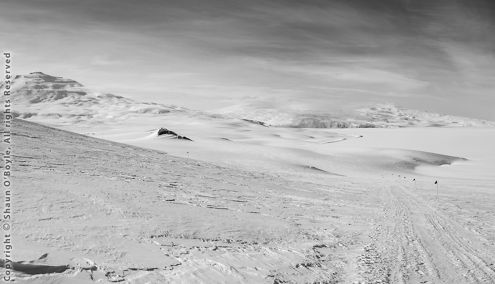 Mount Erebus and Mount Terror, Ross Island, Antarctica