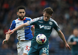 Craig Conway of Blackburn Rovers (L) and Callum Connolly of Wigan Athletic in action - Mandatory by-line: Jack Phillips/JMP - 04/03/2017 - FOOTBALL - Ewood Park - Blackburn, England - Blackburn Rovers v Wigan Athletic - Football League Championship