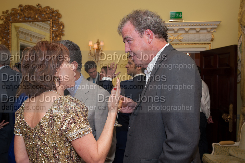 KATHY LETTE; JEREMY CLARKSON, Tatler magazine Jubilee party with Thomas Pink. The Ritz, Piccadilly. London. 2 May 2012