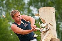 Log chopping<br /> Royal Welsh Show 2011<br /> Llanelwedd<br /> Powys<br /> Mid<br /> Events