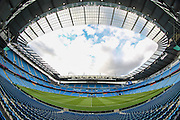 General view of Etihad stadium before the Barclays Premier League match between Manchester City and Tottenham Hotspur at the Etihad Stadium, Manchester, England on 14 February 2016. Photo by Mark P Doherty.
