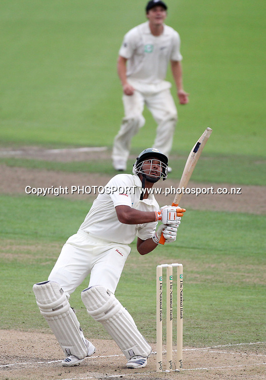 Banglandesh's Mohammad Mahmudullah.<br />Day 3. Test match cricket. One off test.<br />New Zealand Black Caps versus Bangladesh.<br />Seddon Park, Hamilton, New Zealand.<br />Tuesday 17 February 2010.<br />Photo: Andrew Cornaga/PHOTOSPORT
