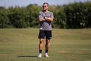 Forest Green Rovers manager, Mark Cooper during the first day back at training for Forest Green Rovers at the New Lawn, Forest Green, United Kingdom on 2 July 2018. Picture by Shane Healey.