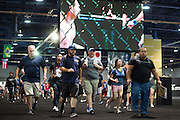LAS VEGAS, NV - JULY 9:  Fans rush into the UFC Fan Expo at the Las Vegas Convention Center on July 9, 2016 in Las Vegas, Nevada. (Photo by Cooper Neill/Zuffa LLC/Zuffa LLC via Getty Images) *** Local Caption ***