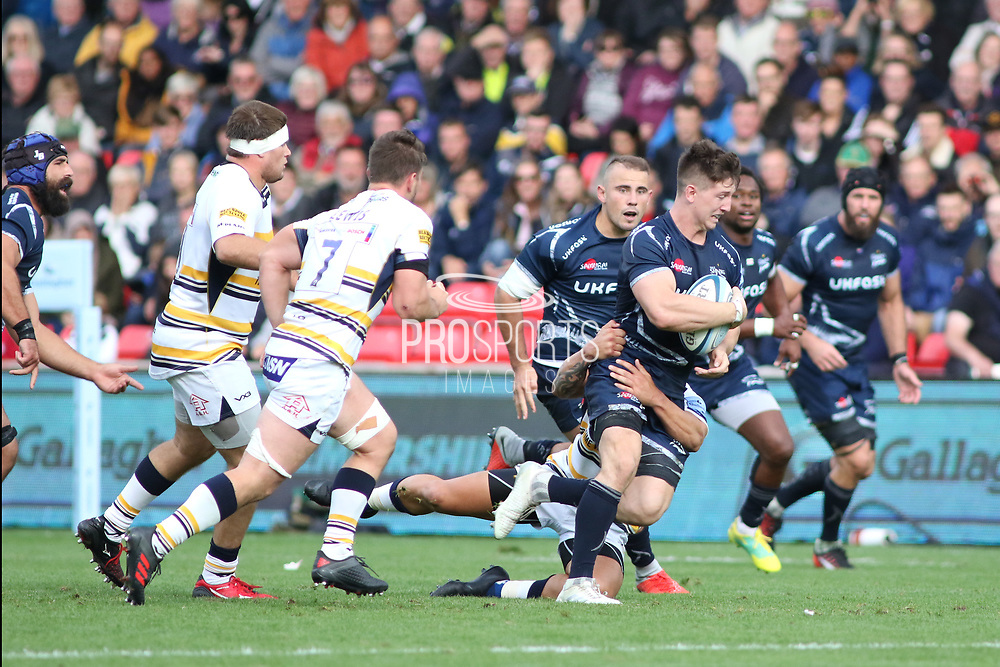 Sale Sharks Ben Curry during the Gallagher Premiership Rugby match between Sale Sharks and Worcester Warriors at the AJ Bell Stadium, Eccles, United Kingdom on 9 September 2018.