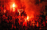 Fotball<br /> VM-kvalifisering<br /> Wales v Polen<br /> 13.10.2004<br /> Foto: SBI/Digitalsport<br /> NORWAY ONLY<br /> <br /> Wales v Poland. FIFA World Cup European Qualifying Group Six. Millenium Stadium. 13/10/2004.<br /> <br /> Polish fans.