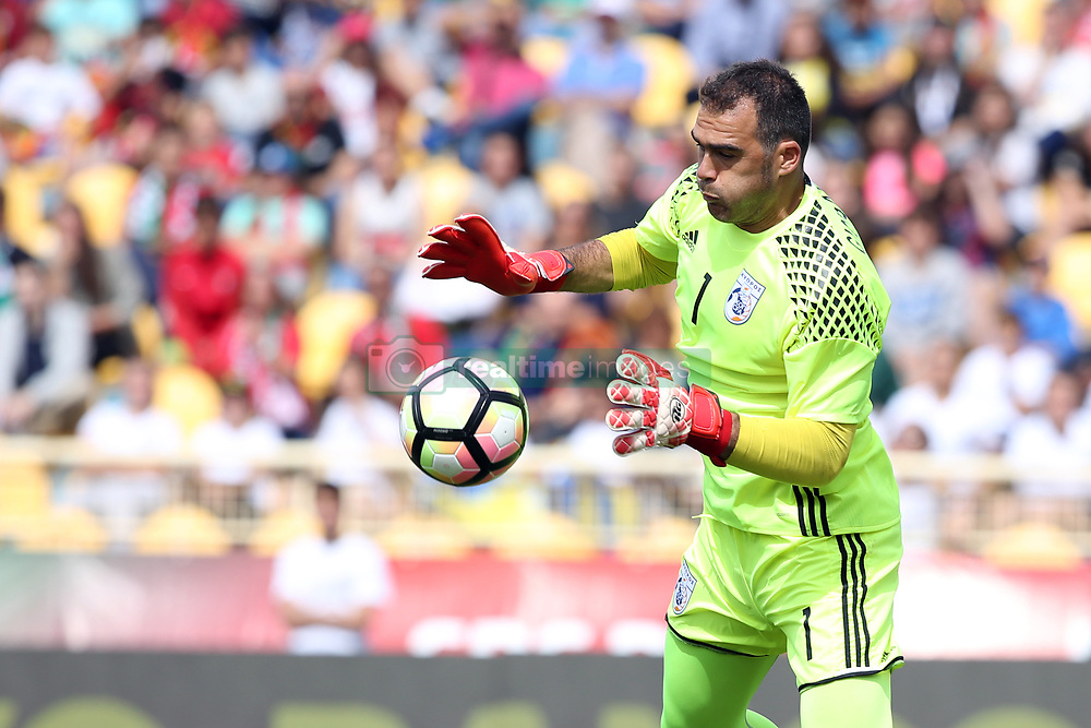 June 3, 2017 - Lisbon, Portugal - Cypruss goalkeeper Antonis Giorgallidis in action during the friendly football match Portugal vs Cyprus at Antonio Coimbra da Mota Stadium in Estoril, outskirts of Lisbon, Portugal on June 3, 2017. (Credit Image: © Pedro Fiuza/NurPhoto via ZUMA Press)