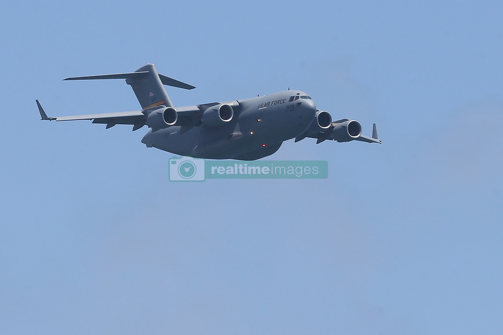 May 4, 2019 - Fort Lauderdale, Florida, United States Of America - FORT LAUDERDALE, FL - MAY 04: C-17 GlobeMaster III performs in the Fort Lauderdale Air Show on May 4, 2019 in Fort Lauderdale, Florida...People:  C-17 GlobeMaster III. (Credit Image: © SMG via ZUMA Wire)