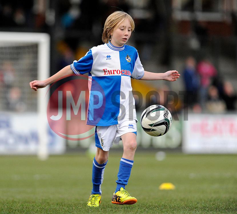 Mascot - Photo mandatory by-line: Dougie Allward/JMP - Tel: Mobile: 07966 386802 07/12/2013 - SPORT - Football - Bristol - Memorial Stadium - Bristol Rovers v Crawley Town - FA Cup - Second Round