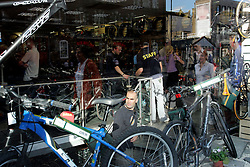 UK ENGLAND LONDON 28JUL05 - Very busy Evans Cycles store outside Waterloo Station in central London. Their business has been booming following two terrorist attacks on the public transport system in the past three weeks...jre/Photo by Jiri Rezac ..© Jiri Rezac 2005..Contact: +44 (0) 7050 110 417.Mobile:  +44 (0) 7801 337 683.Office:  +44 (0) 20 8968 9635..Email:   jiri@jirirezac.com.Web:    www.jirirezac.com..© All images Jiri Rezac 2005 - All rights reserved.