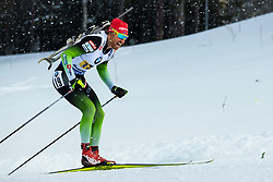 March 16, 2019 - –Stersund, Sweden - 190316 Klemen Bauer of Slovenia competes in the Men's 4x7,5 km Relay during the IBU World Championships Biathlon on March 16, 2019 in Östersund..Photo: Johan Axelsson / BILDBYRÃ…N / Cop 245 (Credit Image: © Johan Axelsson/Bildbyran via ZUMA Press)