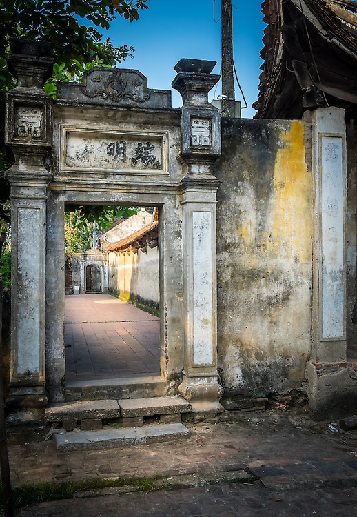 VAN HA, VIETNAM - CIRCA SEPTEMBER 2014: Temple at the Lang Gom Tho Ha village. The village belongs to the Van Ha commune, it is located 50km away from Hanoi in Northern Vietman