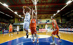 Aleksej Laskevic of Helios vs Rasko Katic of Hemofarm at basketball match in 6th Round of NLB League  between KK Helios Domzale and KK Hemofarm STADA Vrsac , on November 7, 2009, in Dvorana Komunalnega centra, Domzale, Slovenia.  Helios lost 60:85. (Photo by Vid Ponikvar / Sportida)