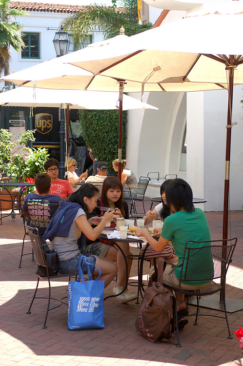 Outdoor Restaurant along State Street, Downtown, Santa Barbara, California, United States of America