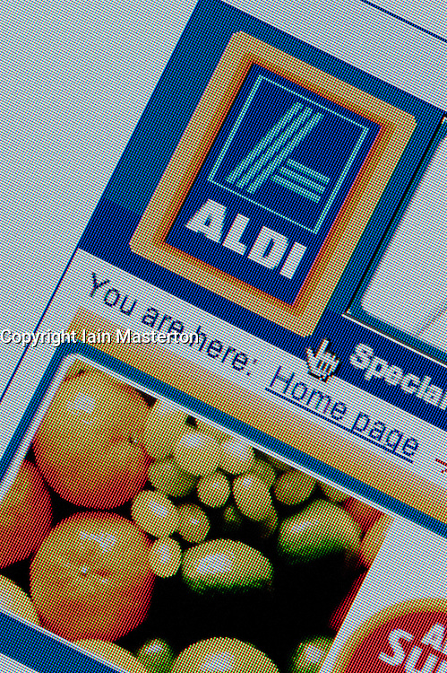 Detail of screenshot from website of Aldi home shopping and delivery service