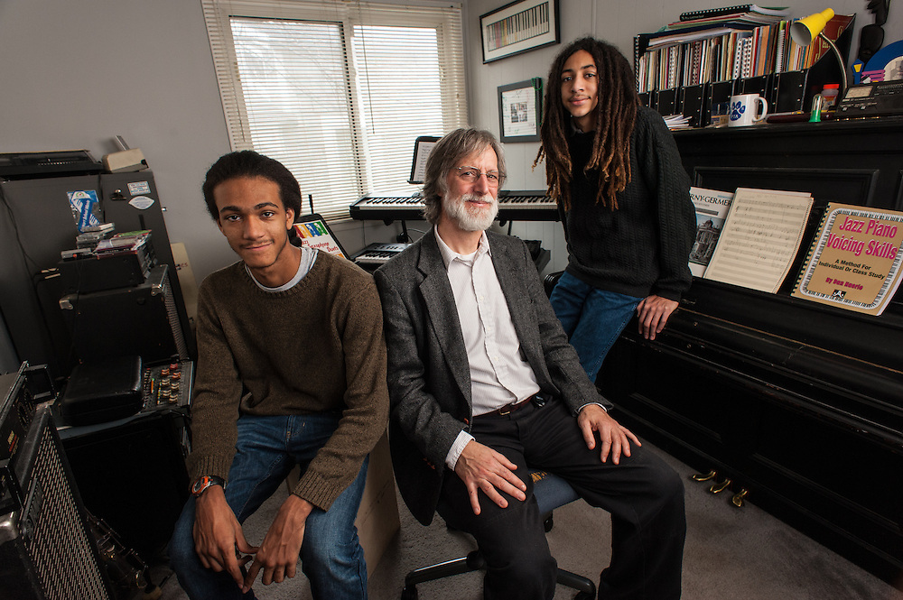 COLUMBIA, MD -- 12/20/14 -- Tom Monroe, 58, and his sons, Elias Jack-Monroe, 17, and Theo Jack-Monroe, 14, talk about the complexity of being a biracial family.…by André Chung #_AC23296