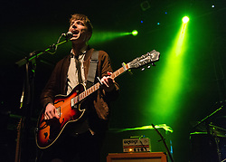 © Licensed to London News Pictures. 07/11/2014. London, UK.   Southern performing live at KOKO, supporting headliner Catfish and the Bottlemen.  In this picture - Thom Southern. Southern is an Irish boy-sister duo consisting of band members Thom Southern (vocals, guitar), Lucy Southern (vocals, guitar).   Photo credit : Richard Isaac/LNP