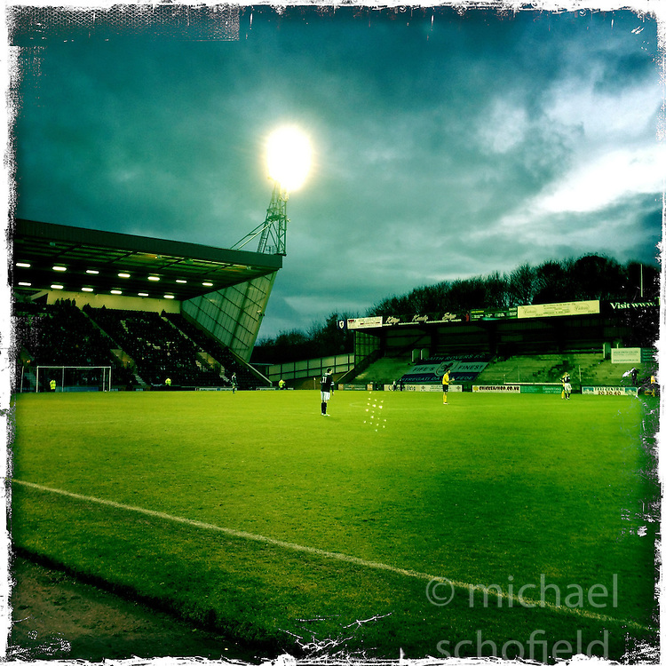 Raith Rovers FC..Hipstamatic images taken on an Apple iPhone..©Michael Schofield.
