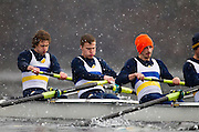 VICTORIA, BC - FEBRUARY 16,2014: The University of Victoria Mens Rowing team races in Eights at the Head of the Shawnigan Rowing Regatta on Sunday February 16, 2014 in Victoria, British Columbia, Canada. (Photo by Kevin Light)<br /> <br /> .