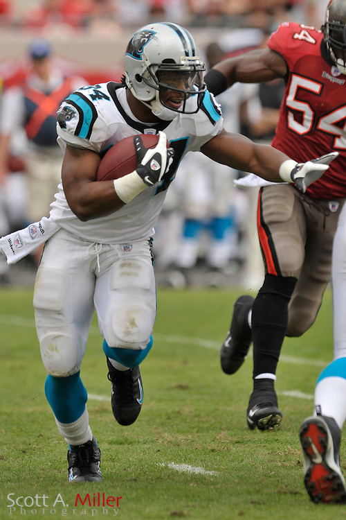 Dec. 30, 2007; Tampa, FL, USA; Carolina Panthers running back DeAngelo Williams (34) during the Panthers game against the Tampa Bay Buccaneers at Raymond James Stadium.                        ©2007 Scott A. Miller..©2007 Scott A. Miller