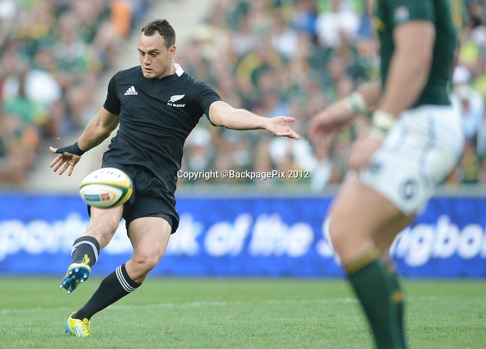 Israel Dagg of New Zealand during the 2012 Castle Rugby Championship match between South Africa and New Zealand played at Soccer City in Johannesburg, South Africa on 6 October 2012 © Barry Aldworth/BackpagePix