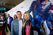 AMSTERDAM - In het Rai theater is de filmpremiere van Iron Man 3. Met op de foto  Gaby Blaaser met partner Nick Base. FOTO LEVIN DEN BOER - PERSFOTO.NU
