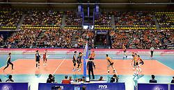 01-06-2014 NED: WLV Nederland - Zuid Korea, Eindhoven<br /> Publiek Oranje support de spelers, Topsporthal Eindhoven