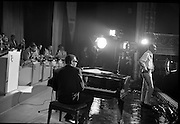 "Singer Ray Charles at the piano at the Gaiety Theatre, filming a scene for the film ""Ballad in Blue"".<br /> 09.06.1964"