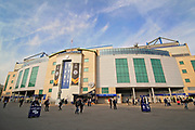 A general view of the outside of Stamford Bridge Stadium before the Europa League quarter-final, leg 2 of 2 match between Chelsea and Slavia Prague at Stamford Bridge, London, England on 18 April 2019.