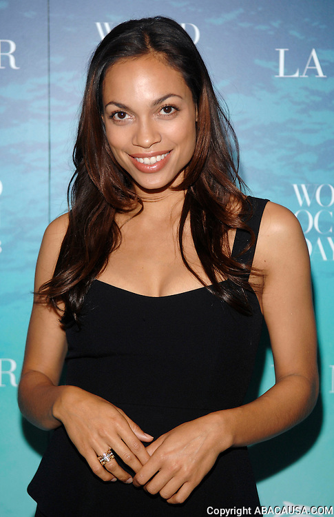 Actress Rosario Dawson poses at the La Mer and Oceana party for World Ocean Day 2008 in New York City, USA on June 4, 2008.