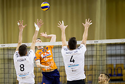 Matej Mihajlovic of ACH Volley during Volleyball match between AHC Volley and Calcit Volley in Round #3 in blue group of Slovenian first league, on March 17, 2018 in Tivoli Sports Hall, Ljubljana, Slovenia. Photo by Urban Urbanc / Sportida