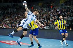 Domagoj Pavlovic of HC Prvo Plinarsko Drustvo Zagreb during EHF Champions eague 2016/17 handball match between HC Prvo Plinarsko Drustvo Zagreb and RK Celje Pivovarna Lasko, on March 9th, 2017 in Arena Zagreb, Croatia. Photo by Martin Metelko / Sportida