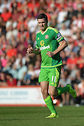 Sunderland AFC midfielder Adam Johnson comes on as sub during the Barclays Premier League match between Bournemouth and Sunderland at the Goldsands Stadium, Bournemouth, England on 19 September 2015. Photo by Mark Davies.