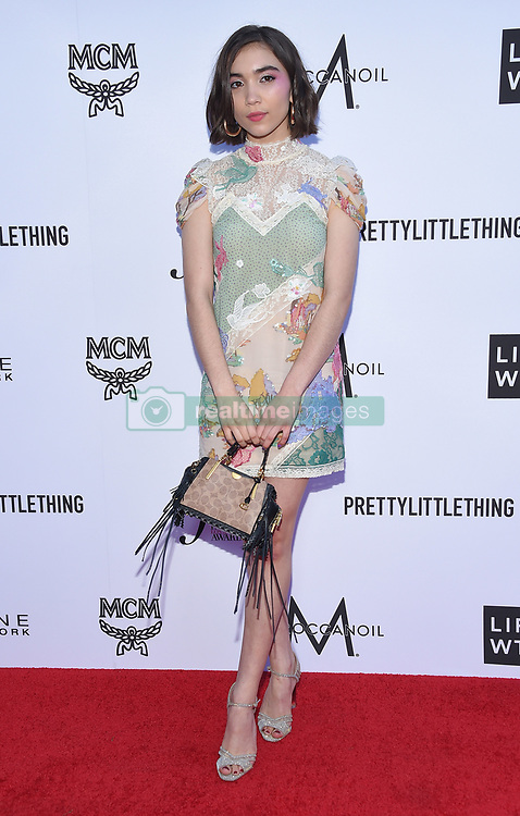 Tessa Brooks at The Daily Front Row Fashion Los Angeles Awards 2018 held at the Beverly Hills Hotel on April 8, 2018 in Beverly Hills, Ca. 08 Apr 2018 Pictured: Rowan Blanchard. Photo credit: MEGA TheMegaAgency.com +1 888 505 6342