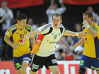 Handball EM Herren 2010 Vorrunde Deutschland - Schweden 22.01.2010 Holger Glandorf (GER) jubelt