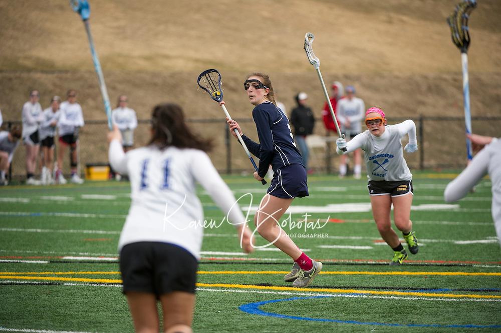 Laconia girls varsity Lacrosse scrimmage.  Karen Bobotas/ for the Laconia Daily Sun