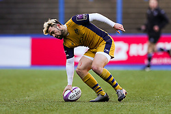 Jordan Williams of Bristol Rugby scores a try - Rogan Thomson/JMP - 21/01/2017 - RUGBY UNION - Cardiff Arms Park - Cardiff, Wales - Cardiff Blues v Bristol Rugby - EPCR Challenge Cup.