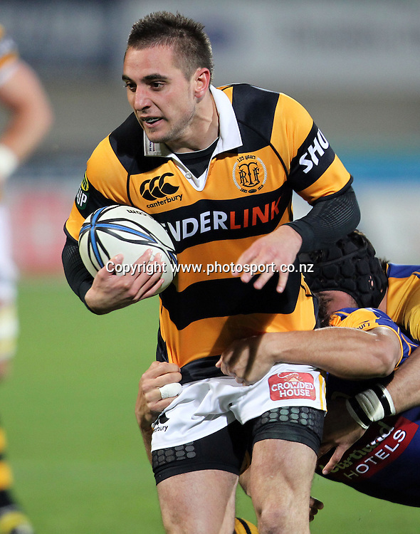 Andre Taylor in action for Taranaki.<br /> Rugby - ITM Cup - Otago v Taranaki, 26 August 2010, Carisbrook, Dunedin, New Zealand.<br /> Photo: Rob Jefferies/PHOTOSPORT