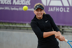 May 16, 2018 - Trnava, Slovakia - ANASTASIA POTAPOVA of Russia n her first round match in the Empire Slovak Open tennis tournament in Trnava Slovakia (Credit Image: © Christopher Levy via ZUMA Wire)