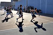 Public School Athletic League handball match between Bronx Science High School and Brooklyn Tech in Brooklyn, N.Y.