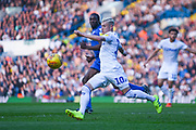 Ezgjan Alioski of Leeds United (10) keeps the ball moving during the EFL Sky Bet Championship match between Leeds United and Bolton Wanderers at Elland Road, Leeds, England on 23 February 2019.