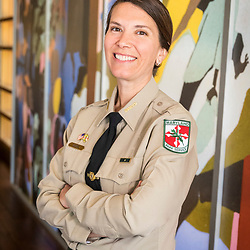 Park Manager Dana Paterra, at the visitor center at the Harriet Tubman Underground Railroad State Park in Church Creek, Maryland.