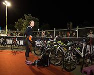 Gina CRAWFORD (NZL) Prepares Transition In The Pre Dawn. Ironman Asia Pacific Championship Melbourne. Triathlon. Frankston And St Kilda, Melbourne, Victoria, Australia. 24/03/2013. Photo By Lucas Wroe