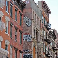 East Village graffiti facade